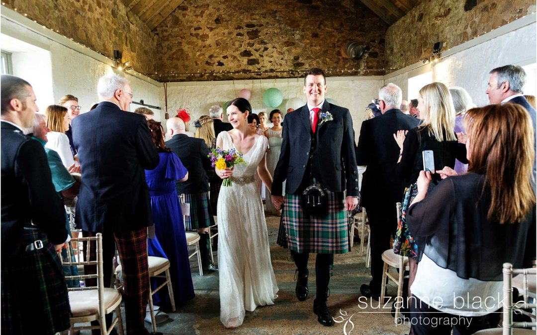 Cow Shed Crail Wedding Photography – Sarah and James