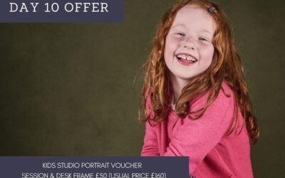 12 Days of Christmas – Day 10 – Kids Studio Portrait Voucher