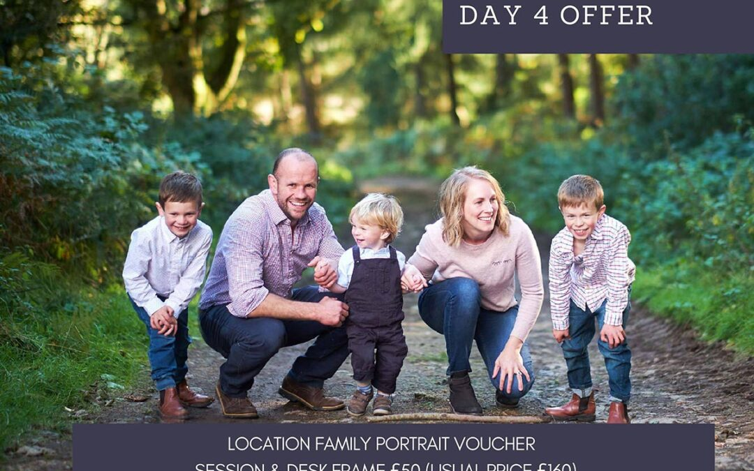 12 days of Christmas – Day Four – Location portrait voucher